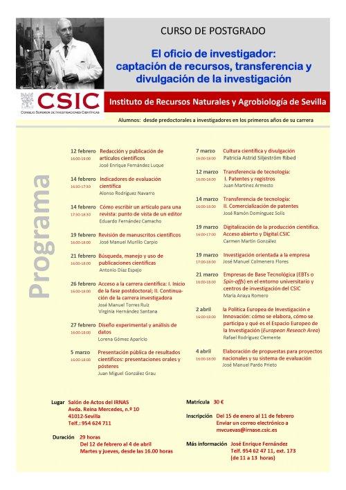 Cartel curso investigadores 2013-1